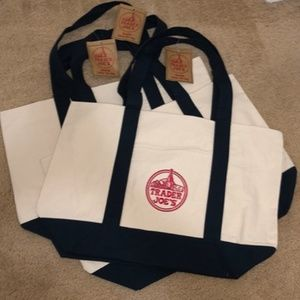 NWT 3 Trader Joe's Reusable Canvas ♻️Eco Tote Bag